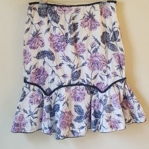 FEI Anthropologie Floral Fit & Flare Pencil Skirt